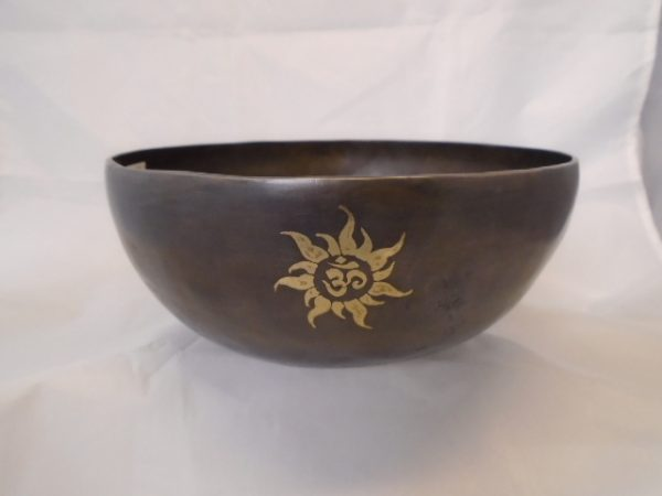 Tibetan Singing Bowl with Mallet - Sun Design